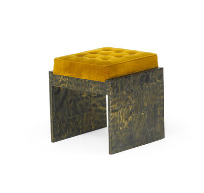 Paul Evans (1931-1987), 'Custom Patchwork stool', 1970s