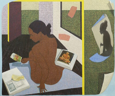 Mequitta Ahuja, 'Performing Painting: A Real Allegory of Her Studio', 2015