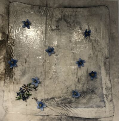 Sonya Kelliher-Combs, 'Blue Scallop with Forget-Me-Not', 2021