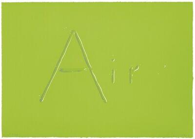 Ed Ruscha, 'Air', 1969
