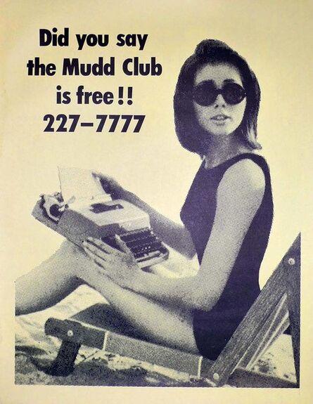 Fernando Natalici, 'Mudd Club 1979: Original club poster (Haring, Basquiat related)', 1979