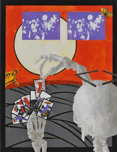 Nobuaki Takekawa, 'Silver Grass and Moon', 2015
