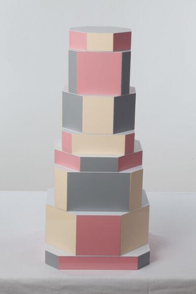 "Oeuffice, '""Ziggurat Tower"" set of stacking boxes, Beqaa Pixels Edition', 2012"