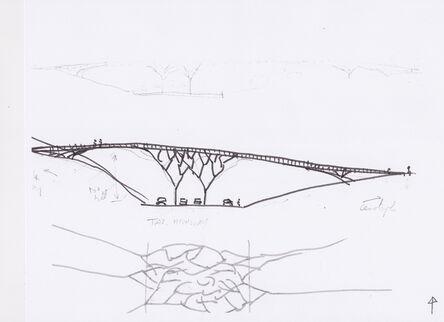Vito Acconci, 'Sketch for a Bridge in Tasmania III', 2014