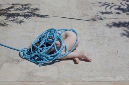 Polly Penrose, 'Pool Party Blue Hose', 2015