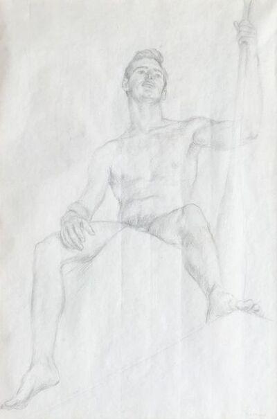 Paul Cadmus, 'Male Nude PB3', ca. 1953