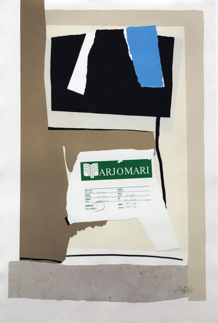 Robert Motherwell, 'America-La France Variations VII', 1984