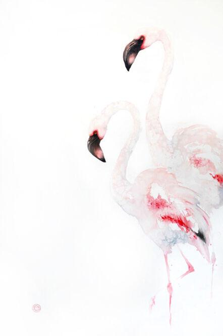 Karl Martens, 'Lesser Flamingoes'