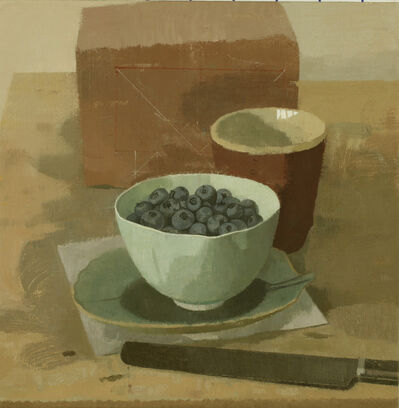 Susan Jane Walp, 'Blueberries in a Bowl with Red Cup Knife and Brick', 2012
