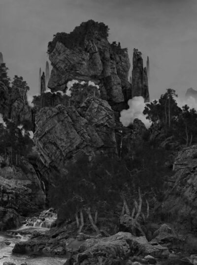 Yang Yongliang 杨泳梁, 'Whispering Pines in the Mountains', 2019