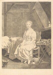 Jean Massard after Jean-Baptiste Greuze, 'La vertu chancelante'