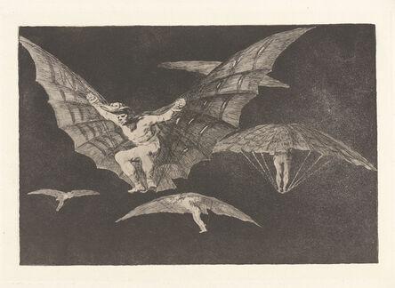 Francisco de Goya, 'Where There's a Will There's a Way [A Way of Flying] (Donde Hay Ganas Hay Maña [Modo de Volar])', 1813-1820