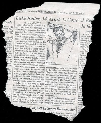 Luke Butler, 'Obituary ', 2017