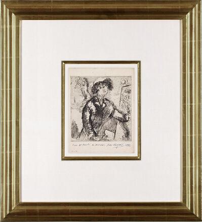 Marc Chagall, 'Autoportrait au chevalet', 1931