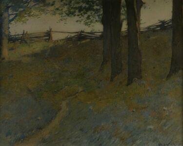 William Lathrop, 'Trees on a Hillside', ca. 1890s