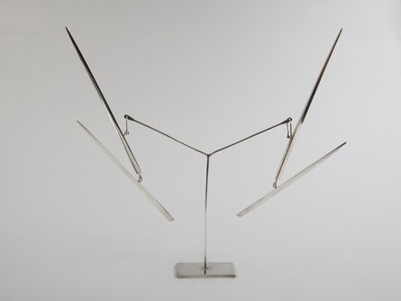 """George Rickey, '""""Two Lines Up"""" kinetic earrings', ca. 1960s"""