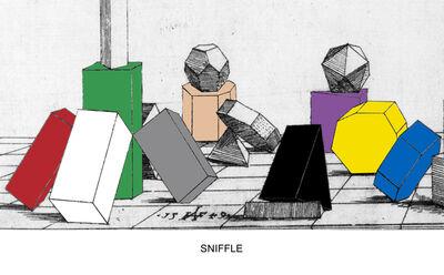 John Baldessari, 'Engraving with Sounds: Sniffle', 2015