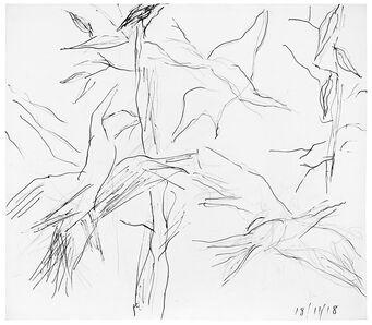 Ken Whisson, 'Birds and Gum Leaves', 2018, 11, 18 00:00:00 UTC