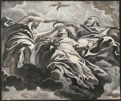 after Sir Peter Paul Rubens, 'Le couronnement de la Vierge, L'Ange et Le Bénédicité Détail de plafond de l'Église des Jésuites d'Anvers', 1620-1680
