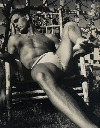 George Platt Lynes, '[Chuck Howard in Chair]', ca. 1950