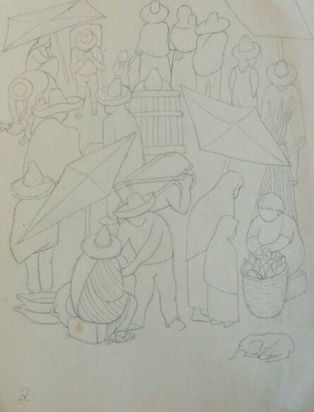 Diego Rivera, 'Escana del mercado / Tianguis'