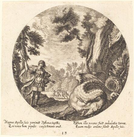 Georg Andreas Wolfgang, the Elder, 'Apollo Killing the Python', 1665