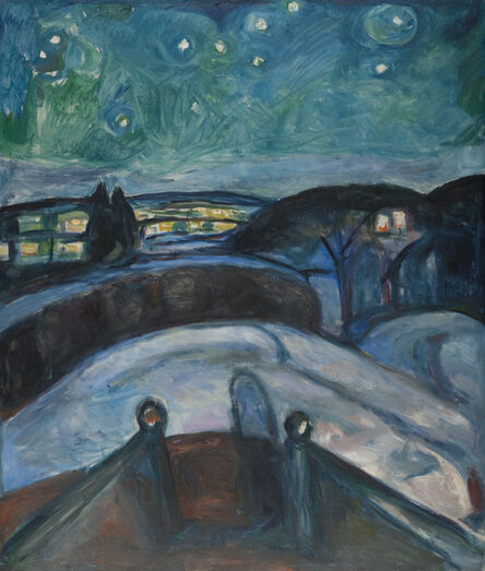 Edvard Munch, 'Starry Night', 1922-1924