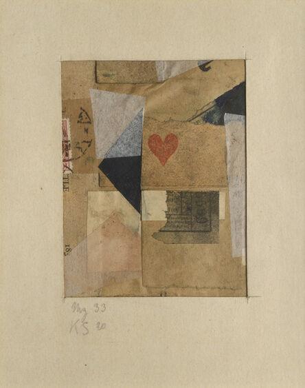 Kurt Schwitters, 'MZ 33', 1920