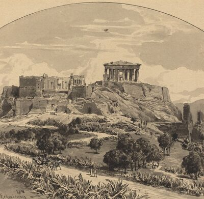 Themistocles von Eckenbrecher, 'The Acropolis from the West', 1890