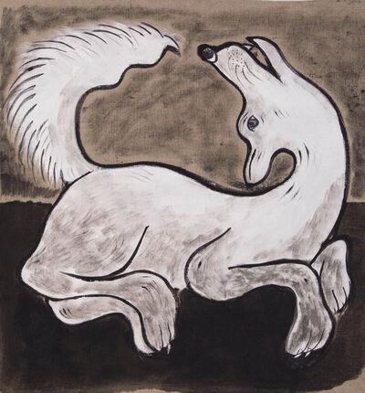 Alexandra Borovski, 'White Dog', 2020