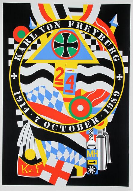 Robert Indiana, 'The Hartley Elegies: The Berlin Series - KvF I', 1990