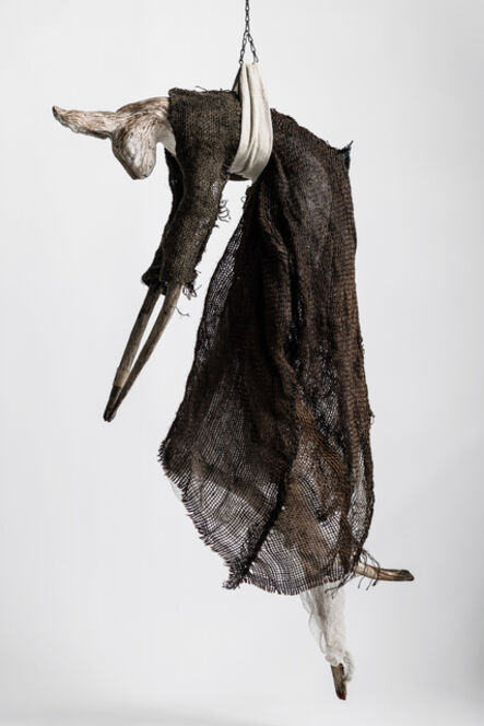 Elizabeth Jordan, 'Sculpture of hare suspended from chain: 'Children 1'', 2020