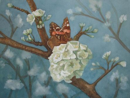 Lauren Sweeney, 'Butterfly Feasting on a Flowering Plum Tree', 2013