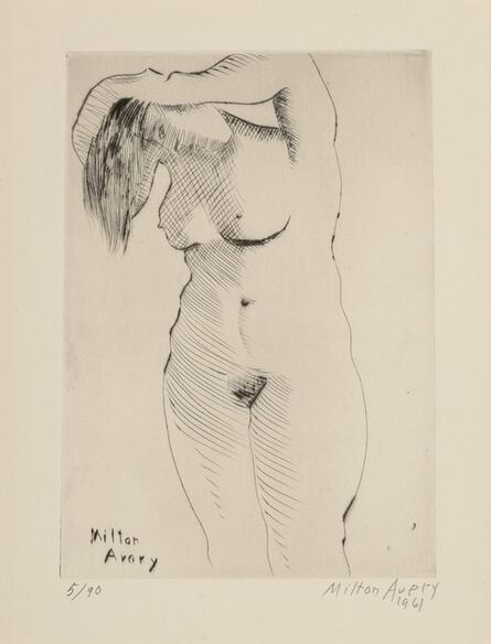 Milton Avery, 'Nude Combing Hair, from the deluxe edition', 1961