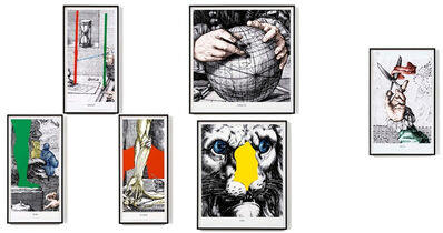 John Baldessari, 'Engravings with Sounds: SOB, GRUNT, CLACK, SNEEZE, URG, TOOT', 2015