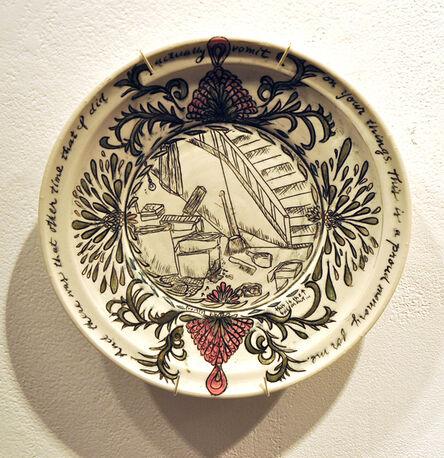 Heather Ossandon, 'Commemorative Plates of Shitty Things: The Break Ups-Chris 2', 2014