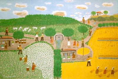 Giorgos Rigas, 'Harvesting Cotton and Barley', 2003
