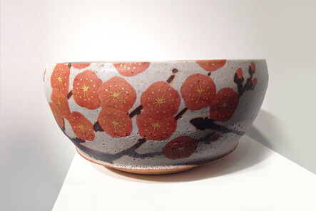 Mochizuki Shu, 'Bowl with Red Plum Blossom Design', 2013