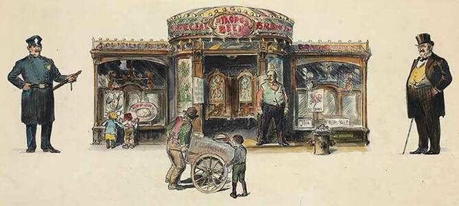 John Sloan, 'The Saloon In New York', 1908