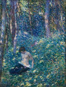 Henri Baptiste Lebasque, 'Femme dans les Bois'