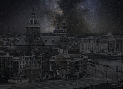 Thierry Cohen, 'Amsterdam 52 22' 36'' N 2018-10-12 LST 0:11', 2018