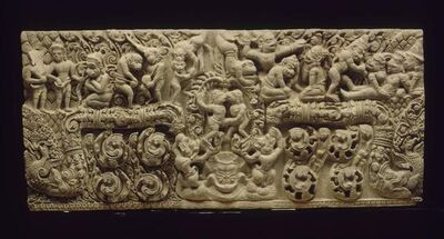 'Scenes from Ramayana: the fight of Valin and Sugriva', 11th century