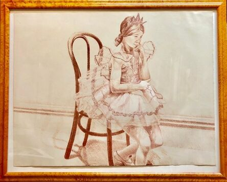 Philip Pearlstein, 'Girl in Ballerina Dress (Thonet Chair) Color Lithograph, American Modernist', 1970-1979