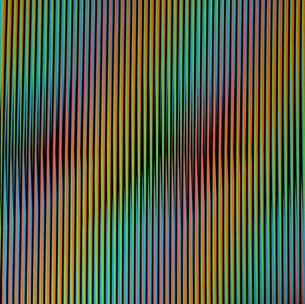 Carlos Cruz-Diez, 'Induction Chromatique a Double Fréquence RGB Serie Semana - Viernes', 2013