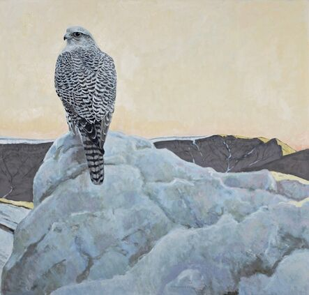 Ron Kingswood, 'Above the Glacier - Gyrfalcon', 2017
