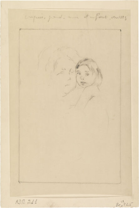 Mary Cassatt, 'Sketch: Grandmother and Child', 1893