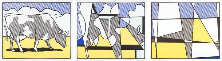 Roy Lichtenstein, 'Cow Going Abstract', 1982