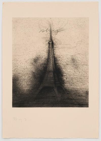 Jim Dine, 'Retroussage Eiffel Tower', 1975