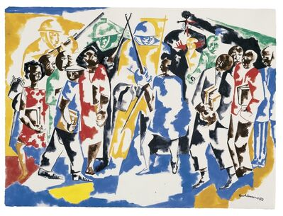 Jacob Lawrence, 'Soldiers and Students', 1962