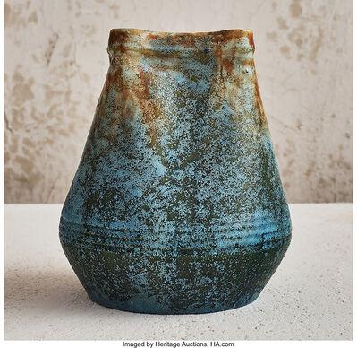 Fachschule Teplitz, 'Scorched Blue Vase', circa 1900